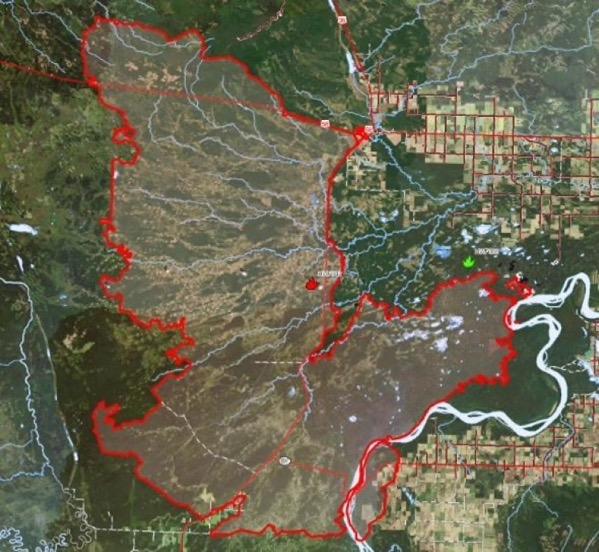 Chuckegg creek wildfire northern alberta