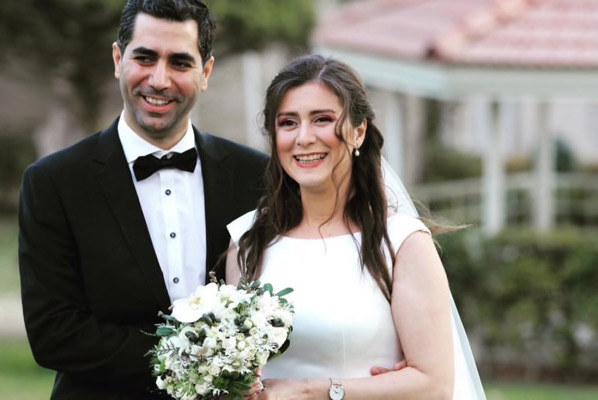 Siavash ghafouri azar and his new wife sara mamani