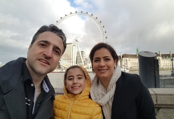 Hamed esmaeilion and family
